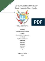 Cuestionario de Sesión 10 - Metodología de La Programación