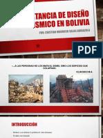Importancia de Diseo Sismico en Bolivia