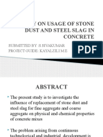 Study on Usage of Stone Dust and Steel