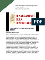 Guía Para La Formación Catequética en Preparación a La Confirmación Agosto 2019