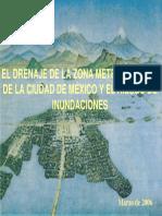 El Drenaje de La Zona Metropolitana de La Ciudad de México y El Riesgo de Inundaciones