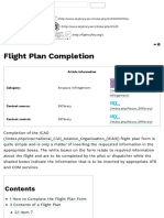 Flight Plan Completion