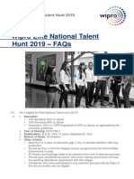 Elite National Talent Hunt- FAQs