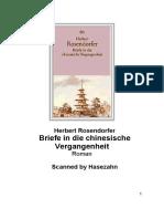 RosendorferHerbert - Briefe in Eine Chinesische Vergangenheit