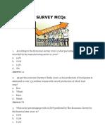 Economic Survey Mcqs