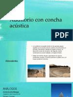 Investigación Concha Acustica