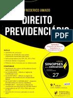 1744 Sinopses Para Concursos V27 Direito Previdencirio 2018 Frederico Amado