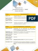 Agenda Del Curso Practicas Profesionales Psicologia