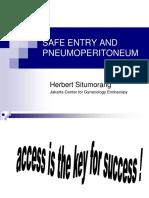 Safe Entry and Pneumoeritoneum