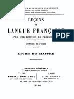Lecons de Langue Francaise (Cours Moyen) 000000925