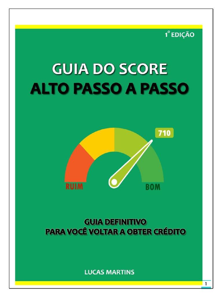 guia do score alto passo a passo gratis