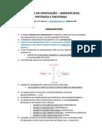 Resumão Da Aprovação - Proteínas, Aminoácidos e Peptídeos