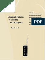 Abadi, Florencia – Conocimiento y Redención en La Filosofía de Walter Benjamin