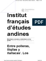 R. Barragán Entre Polleras, Liqllas y Ñañacas