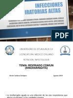 Infecciones de Vias Respiratorias Altas.