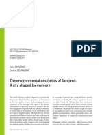 The environmental aesthetics of Sarajevo