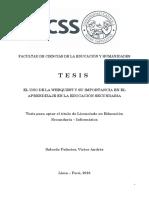 Salcedo Victor Tesis Bachiller 2016