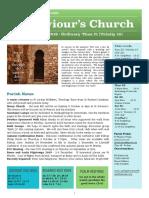 st saviours newsletter - 25 august 2019 - ot21   trinity 10