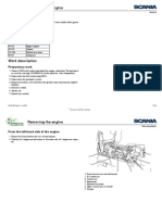 Scania P, G, R, T Series Workshop Manual - Removing the Engine