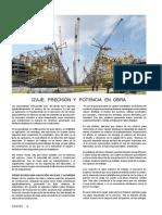 Izaje de Cargas, Precisión y Potencia de Grúas en Proyectos de Construcción