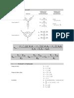 Formulas para impedancias en Estrella-Delta y Delta-Estrella