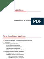 Analisis de Algoritmos Tema 4 Fundamento