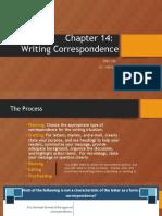 ENG 240 Writing Correspondence