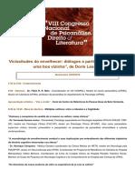 VIII Congresso Nacional de Psicanálise, Direito e Literatura_Programação