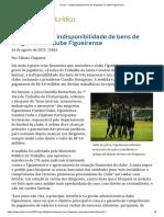 ConJur - Justiça Bloqueia Bens de Dirigentes Do Clube Figueirense