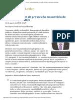 ConJur - Particularidades Da Prescrição Em Matéria de Crimes Ambientais