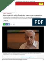 John Nash Fala Sobre Teoria Dos Jogos e Novas Pesquisas _ EXAME