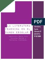 LA LITERATURA FEMENINA EN EL CANON ESCOLAR