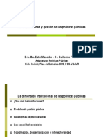 Institucionalidad y Gestión de Las Políticas Públicas (2015) Segunda Parte [Modo de Compatibilidad]