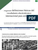 Definiciones y Vocabulario Técnico p. Aisladores