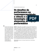Os desafios da performance na contemporaneidade