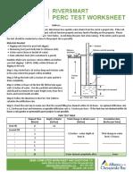 Riversmart Program Worksheet