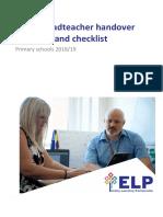 02 Ealing Headteacher Handover Guidance and Checklist 2018-19 Updated