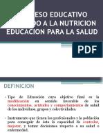 Proceso Educativo Aplicado a La Nutricion