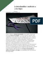 La violencia intrafamiliar Bolivia
