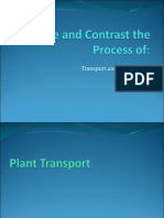Compare and Contrast the Process of Transport and Circulation