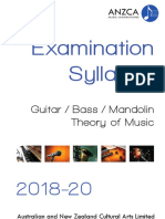 ANZCA Guitar, Bass and Mandolin Syllabus 2018-20