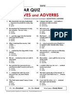 Adjectives and adverbs quiz