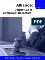 Unholy Alliance California Courts Use of Private Debt Collectors