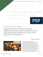 Supremo Tribunal Federal/ entre o importante avanço para a cidadania trans no Brasil e a permanência de uma visão essencialista do gênero | SPW – Português