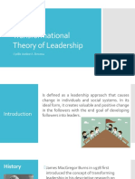 Transformational Theory of Leadership