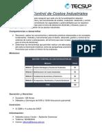 Gestión y Control de Costos Industriales - Temario