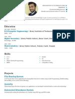 Resume Print