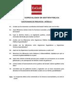 Preguntas Modulo I Gestión Pública - EsGob