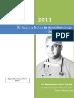 Regional Anesthesia Nerve Blocks