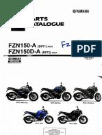 Yamaha Fz v3  FZS V3 Fi 2019 Parts Catalogue New